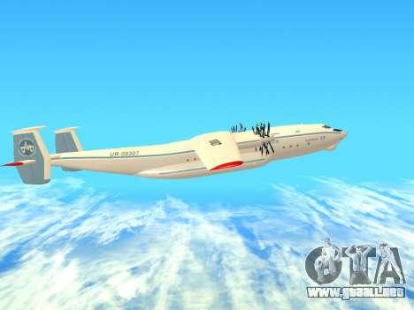 An-22 Antei para GTA San Andreas vista posterior izquierda