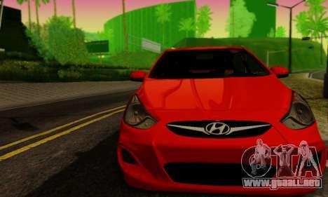 Hyndai Solaris para GTA San Andreas vista posterior izquierda