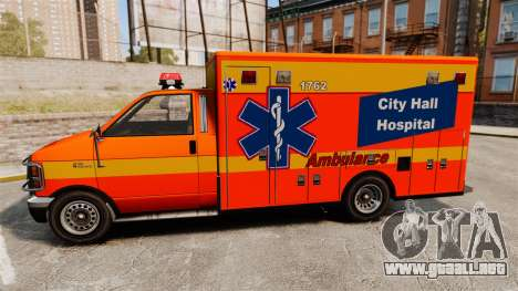 Brute CHH Ambulance para GTA 4 left