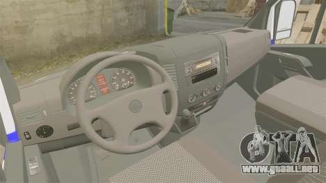 Mercedes-Benz Sprinter Itella Logistics para GTA 4 vista hacia atrás