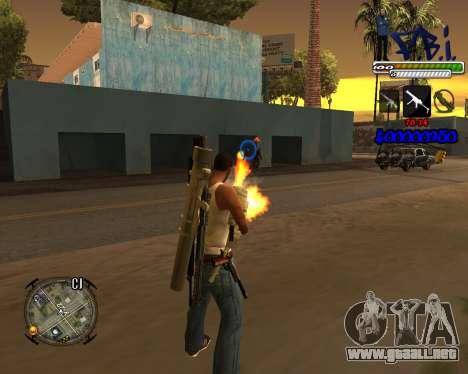 C-HUD FBI By iFreddy para GTA San Andreas segunda pantalla