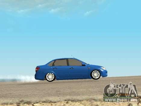 VAZ 2190 para vista lateral GTA San Andreas