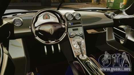 Koenigsegg CCX para GTA 4 vista interior