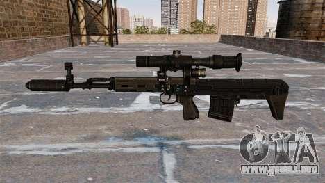 Rifle de francotirador SVD acortado para GTA 4 tercera pantalla