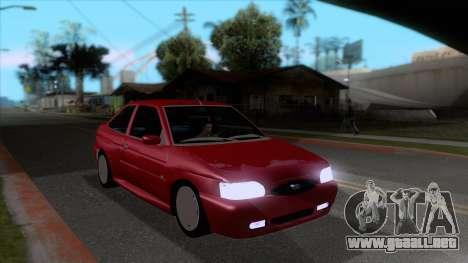 Ford Escort 1996 para GTA San Andreas vista hacia atrás
