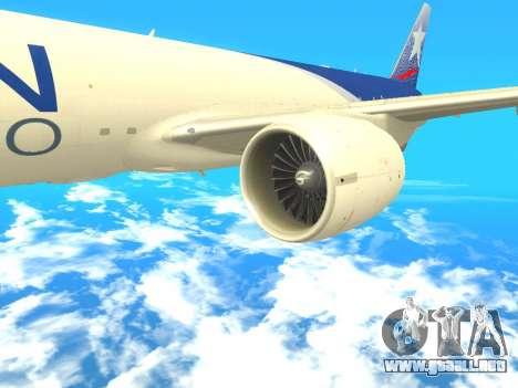 Boeing 777 LAN Cargo para la visión correcta GTA San Andreas