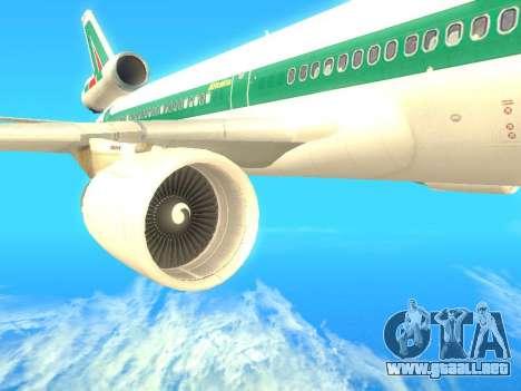 McDonnell Douglas MD-11 Alitalia para la visión correcta GTA San Andreas
