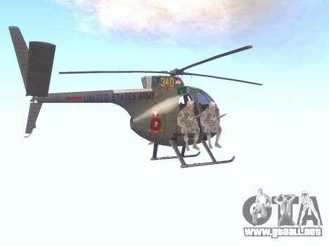 OH-6 Cayuse para la visión correcta GTA San Andreas