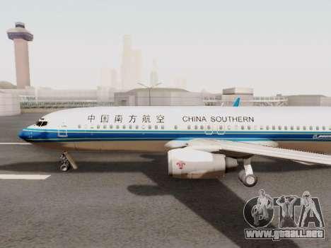 China Southern Airlines Boeing 737-800 para GTA San Andreas vista posterior izquierda