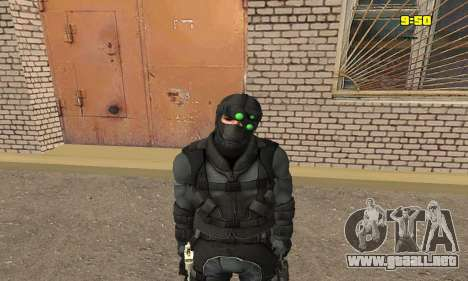 Arquero de juego Splinter Cell conviction para GTA San Andreas