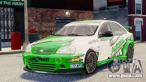 Chevrolet Lacetti para GTA 4 vista lateral