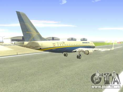 Embraer 175 HOUSE para la vista superior GTA San Andreas