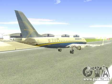 Embraer 175 HOUSE para la vista superior GTA San Andreas