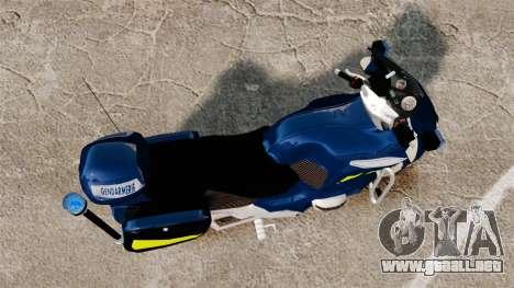 BMW R1150RT Gendarmerie [ELS] para GTA 4 visión correcta