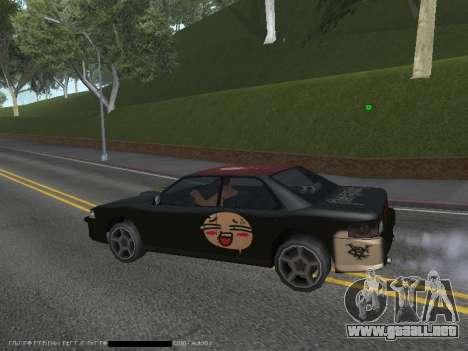 Vinilos para el Sultán para GTA San Andreas vista hacia atrás