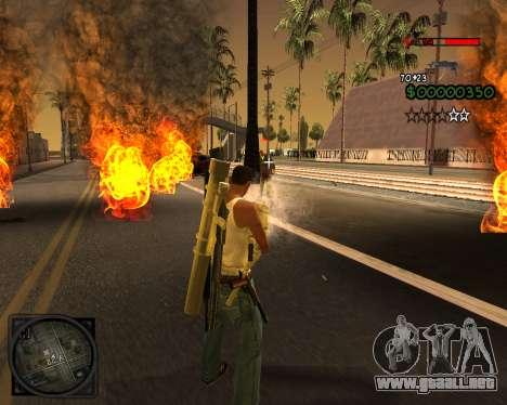 C-HUD Lite v2.0 para GTA San Andreas sucesivamente de pantalla