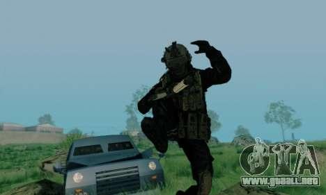 Kopassus Skin 3 para GTA San Andreas sucesivamente de pantalla