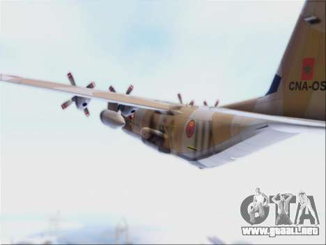 C-130 Hercules Royal Moroccan Air Force para GTA San Andreas vista hacia atrás