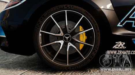 Mercedes-Benz SLS 2014 AMG Black Series Area 27 para GTA 4 vista hacia atrás