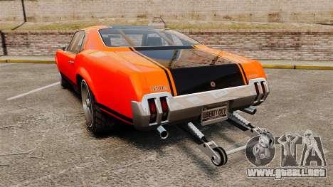 Declasse SabreGT new wheels para GTA 4 Vista posterior izquierda