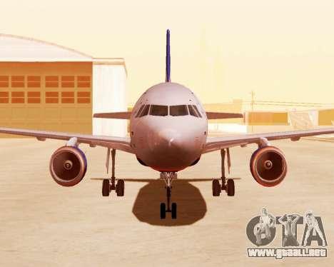 Airbus A320-200 De Aeroflot para GTA San Andreas left
