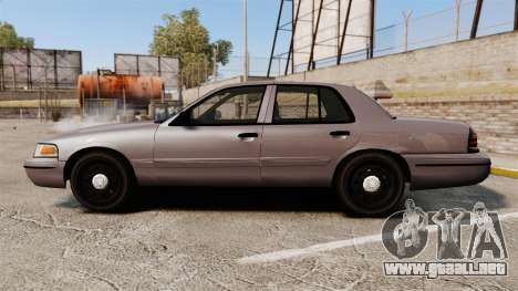 Ford Crown Victoria 2008 LCPD Detective [ELS] para GTA 4 left