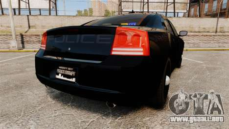 Dodge Charger Slicktop Police [ELS] para GTA 4 Vista posterior izquierda