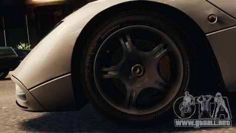 McLaren F1 XP5 para GTA 4 Vista posterior izquierda