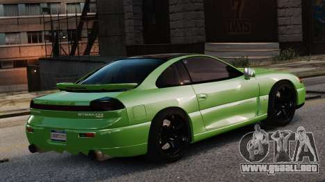 Dodge Stealth Turbo RT 1996 para GTA 4 vista hacia atrás