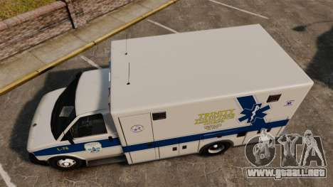 Brute Speedo TEMS Ambulance [ELS] para GTA 4 visión correcta