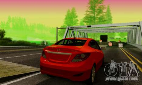 Hyndai Solaris para la visión correcta GTA San Andreas