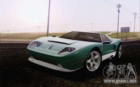 Insulso Bullet GT из GTA 5 para GTA San Andreas vista posterior izquierda