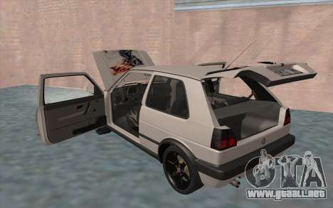 Volkswagen Golf 2 para vista inferior GTA San Andreas