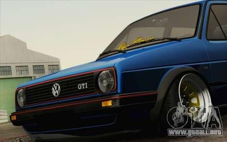 Volkswagen Golf MK2 LowStance para la visión correcta GTA San Andreas