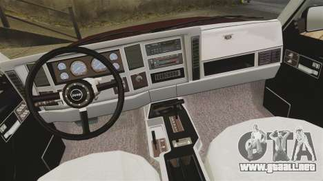 Jeep Carver 6X6 para GTA 4 vista interior