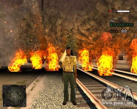 C-HUD Lite v2.0 para GTA San Andreas segunda pantalla