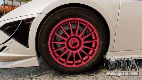 Lamborghini Gallardo LP570-4 Super Trofeo para GTA 4 vista hacia atrás