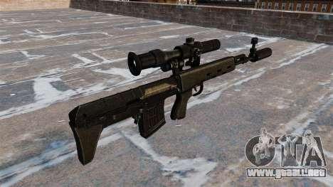 Rifle de francotirador SVD acortado para GTA 4 segundos de pantalla