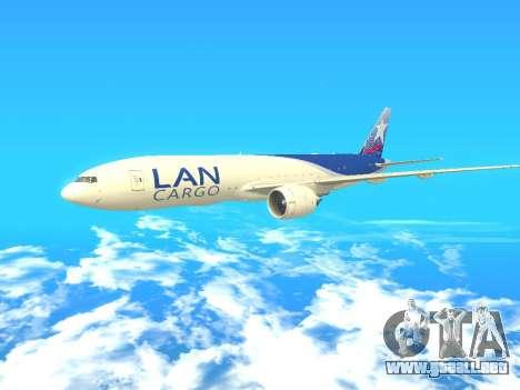 Boeing 777 LAN Cargo para GTA San Andreas left