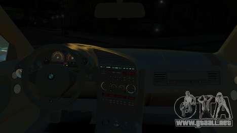 BMW M3 E36 328i para GTA 4 vista hacia atrás