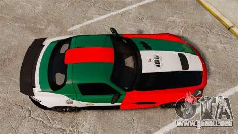 Mercedes-Benz SLS 2014 AMG UAE Theme para GTA 4 visión correcta
