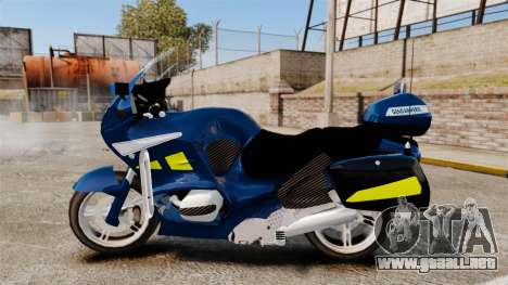 BMW R1150RT Gendarmerie [ELS] para GTA 4 left