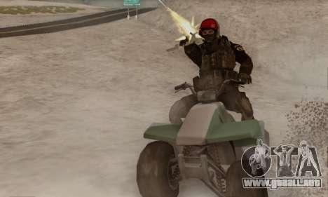 Kopassus Skin 1 para GTA San Andreas segunda pantalla