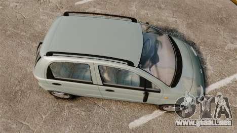 Daewoo Matiz SE 1998 para GTA 4 visión correcta