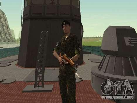 El Cuerpo de infantería de marina de las fuerzas para GTA San Andreas séptima pantalla