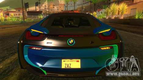 BMW I8 2013 para visión interna GTA San Andreas