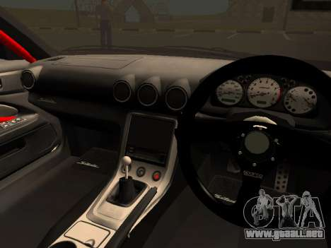 Nissan Silvia S15 Team Dragtimes para visión interna GTA San Andreas