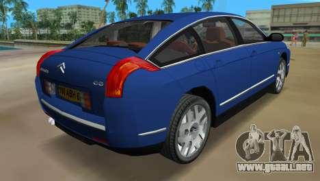 Citroen C6 para GTA Vice City vista lateral izquierdo