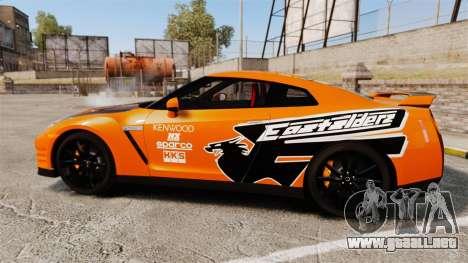 Nissan GT-R 2012 Black Edition NFS Underground para GTA 4 left