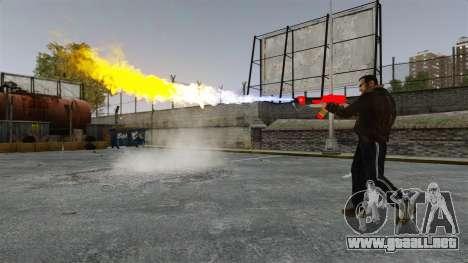 El lanzallamas MX-295 para GTA 4 adelante de pantalla